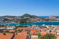 Portar i Dubrovnik i sommaren royaltyfria bilder