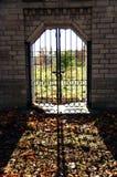 Portar i staketet Fotografering för Bildbyråer