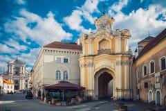 Portar till den kyrkliga oj heliga Treenighet lithuania vilnius Arkivbild