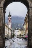 Portar till Innsbruck Royaltyfria Bilder