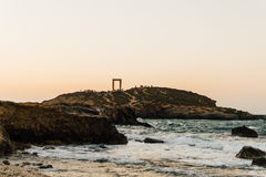 Portara на острове Naxos, Греции Стоковые Изображения RF