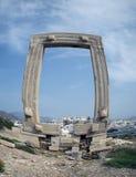 Portara antiguo en la isla de Naxos fotos de archivo