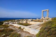 Portara av Naxos Arkivbild