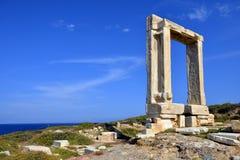 Portara av Naxos Arkivfoto