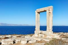 Portara in Chora von Naxos-Insel, Griechenland stockfoto
