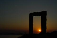 Portara em Naxos Foto de Stock