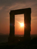 Portara Gate of the Apollo Temple Stock Photography
