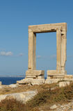 Portara gate, Naxos, Greece Royalty Free Stock Photo