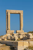 Portara gate, Naxos, Greece Royalty Free Stock Photos