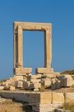 Portara gate, Naxos, Greece. Portara gate, Naxos island, Greece Royalty Free Stock Photos