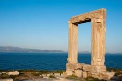 Portara gate, Naxos island, Greece. Portara gate, Naxos island in Greece Royalty Free Stock Photography
