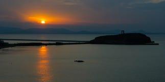 Portara gate at sunset, Naxos, Greece. Europe Stock Photo