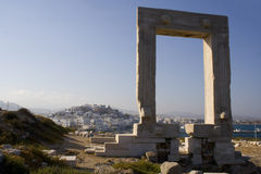 Portara gateway on Naxos, Greece Royalty Free Stock Photography