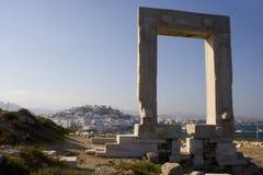 Portara Kommunikationsrechner auf Naxos, Griechenland Lizenzfreie Stockfotografie