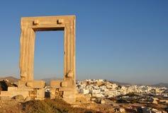 Portara Naxos Stockbilder