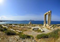Portara-Naxos Grekland Fotografering för Bildbyråer