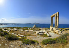Portara-Naxos, Griekenland Stock Afbeelding