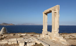 Portara on Naxos island, Greece Royalty Free Stock Image