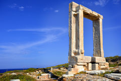 Portara, Naxos island, Greece Stock Photos