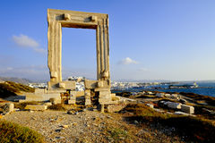 Portara, Naxos island, Greece Royalty Free Stock Photography