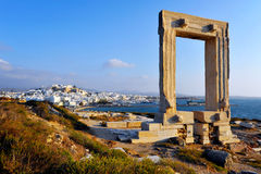Portara, Naxos island, Greece Stock Images