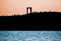 The Portara in Naxos island, Greece Stock Images