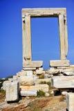 Portara of Naxos Stock Images