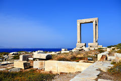 Portara of Naxos Stock Photo