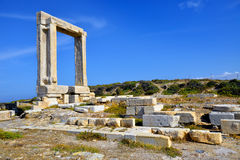 Portara of Naxos Stock Images