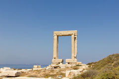 Portara Naxos, Temple of Apollo Royalty Free Stock Photos