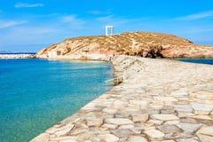 Portara Palatia, Naxos-Insel stockfotos