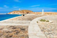 Portara Palatia, Naxos-Insel stockfotografie