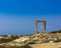 Portara or Temple of Apollo. The Portara or Temple of Apollo found on the Greek Island of Naxos Royalty Free Stock Photo