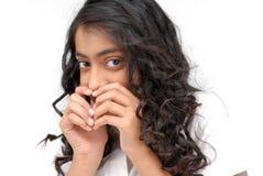Portarit des indischen schönen Mädchens lizenzfreie stockbilder