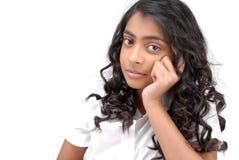 Portarit des indischen schönen Mädchens stockfotografie