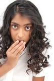 Portarit des indischen schönen Mädchens stockbilder