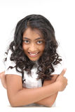 Portarit di bella ragazza indiana fotografie stock