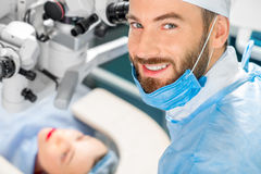 Portarit of eye surgeon Stock Image