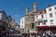 Portarna av den Canterbury domkyrkan och Buttermarket Royaltyfri Fotografi