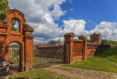 Portarna av nobiliary familjs landsgodset Fotografering för Bildbyråer