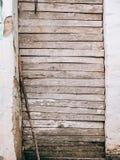 Portas brancas velhas Textura de madeira Fotografia de Stock
