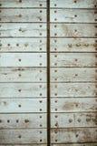 Portas brancas velhas Textura de madeira Foto de Stock Royalty Free