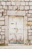 Portas brancas velhas Textura de madeira Fotografia de Stock Royalty Free