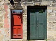 Portas coloridas do estilo do vintage Fotografia de Stock Royalty Free