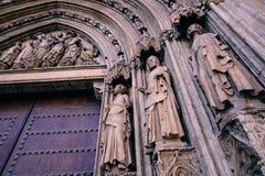 Portas da catedral Imagem de Stock