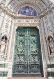Portas da catedral de Florença Fotografia de Stock