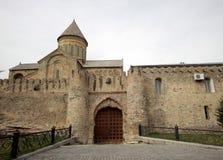 Portas da catedral de Svetitskhoveli em Mtskheta Foto de Stock