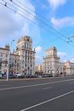 Portas da cidade de Minsk - as onze torres do andar Fotos de Stock