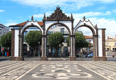 Portas da Cidade (Gates to the City), Ponta Delgada, Sao Miguel stock photos