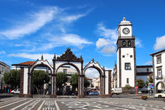 Portas DA Cidade (puertas a la ciudad), Ponta Delgada, sao Miguel Imágenes de archivo libres de regalías